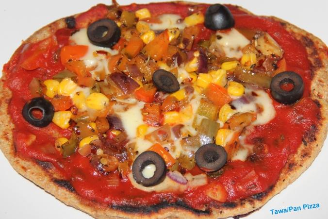 Thin Crust Pizza On Tawa Pan Oven Free Baking Chitra S
