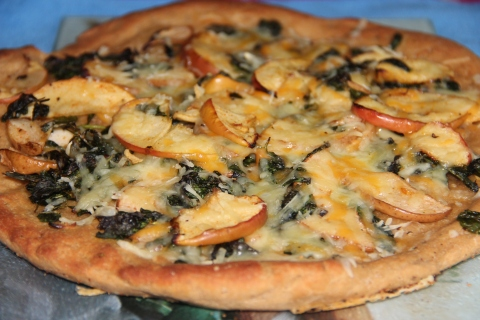 Apple pear Pizza