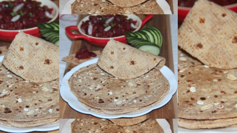 Oats flaxseed Chapati final