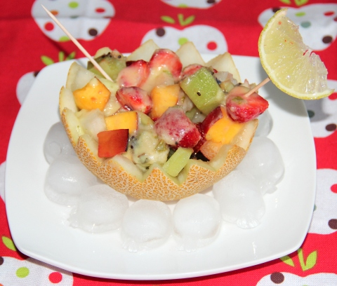 Fruit salad with Pineapple syrup