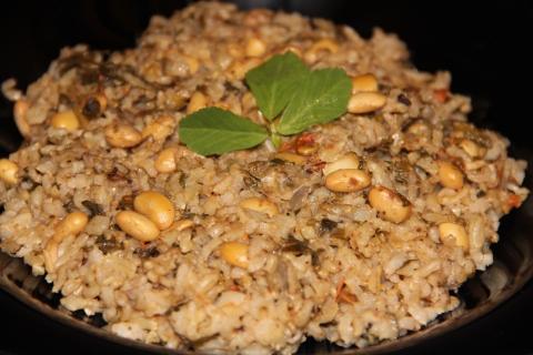 Methi Soya beans rice