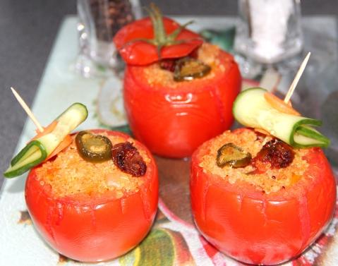Quinoa stuffed in Tomato