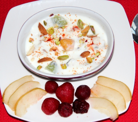 Fruit and nut salad