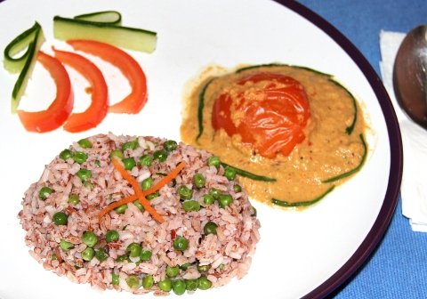 Green peas Shahi red rice