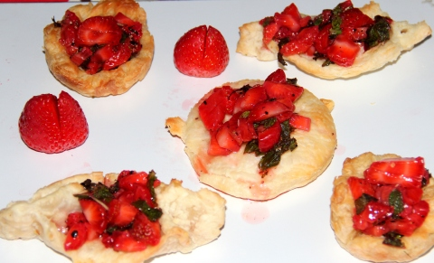 Paratha Strawberry tart