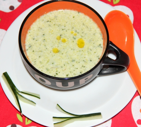 Raw cucumber Soup