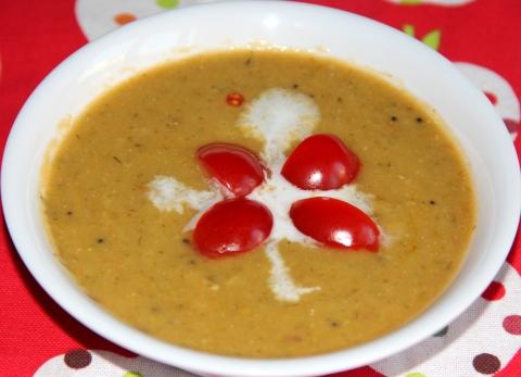 Ridge gourd dill soup