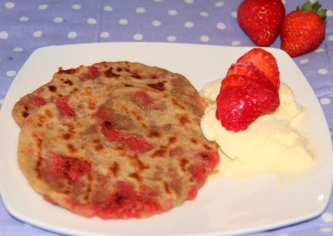 strawberry parathas