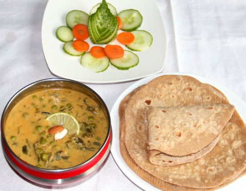 Vegan Methi Matar