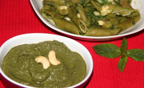 Mint Cashew pesto