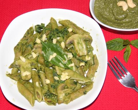Spinach mushroom pesta Pasta