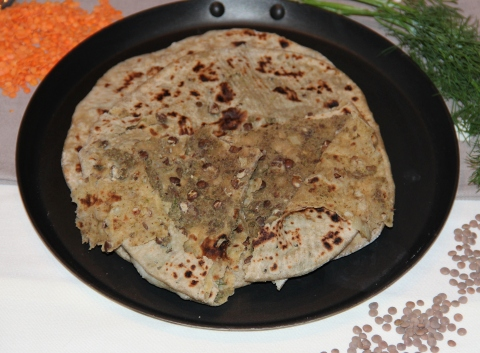 Dal stuffed paratha