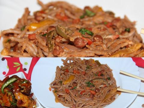 Spaghetti kala channa1