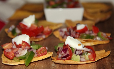 Tortilla canapes