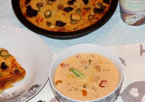 white bean chilli soup