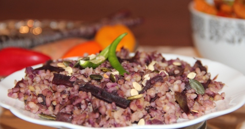 Purple carrot seed rice1
