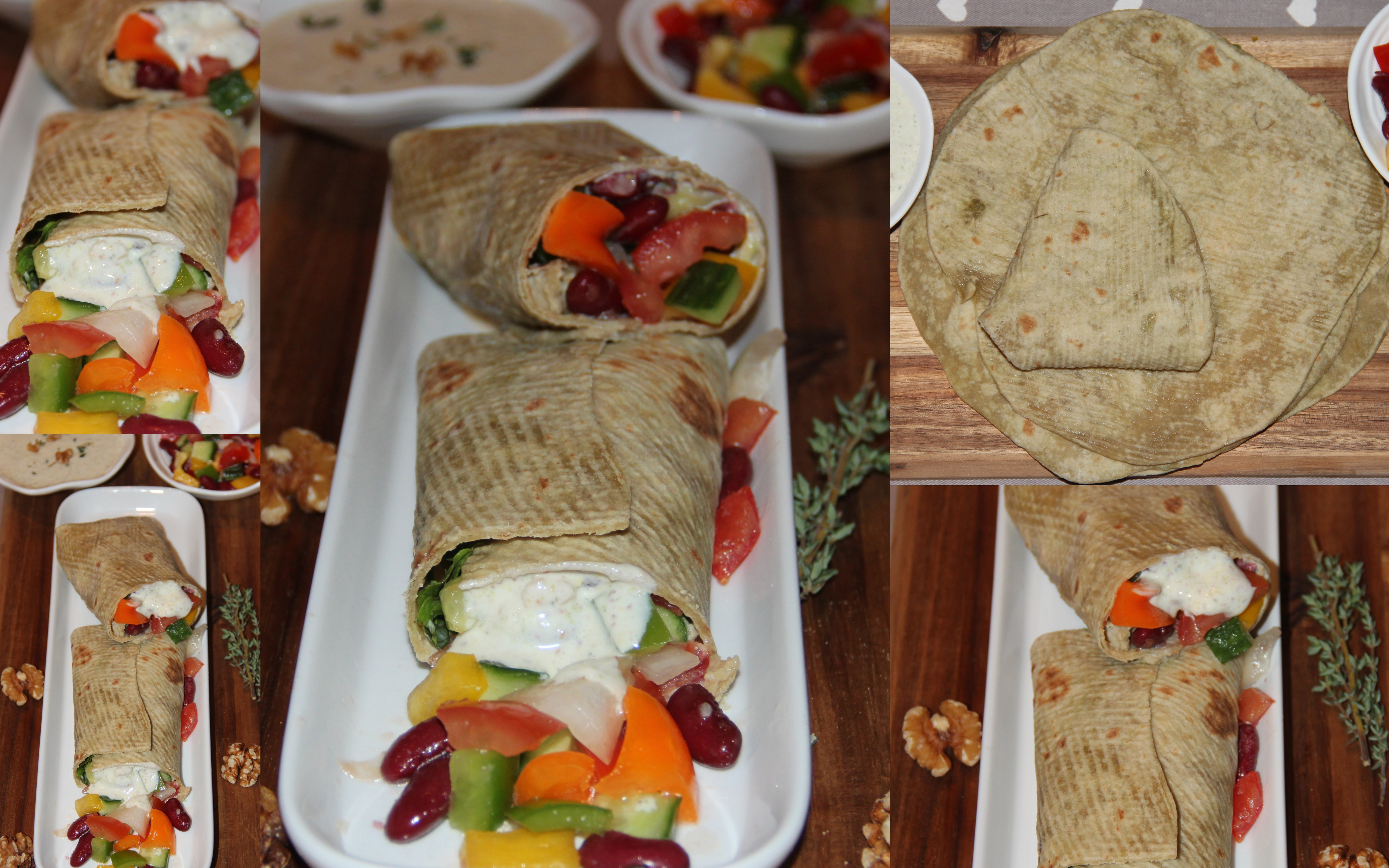 how to make tortilla wraps fillings