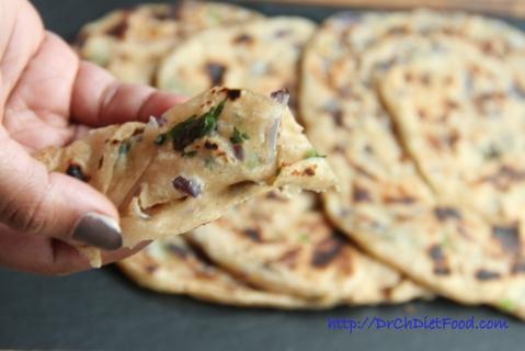 Coriander Onion Paratha12