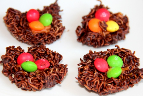 Dark Chocolate nests