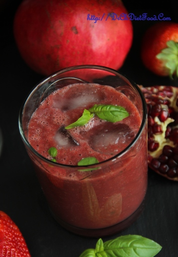 Pomegranate Strawberry Juice3