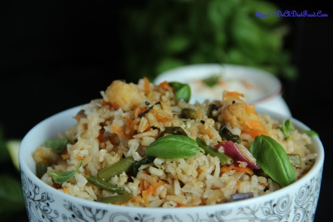 Carrot Basil rice2
