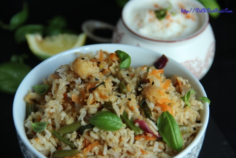 Carrot Basil rice3