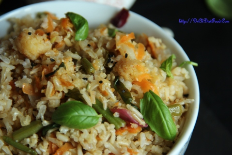 Carrot Basil rice4