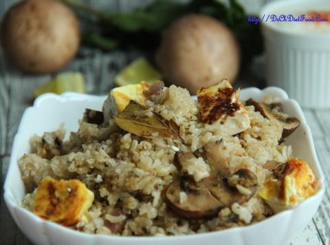 Panner Mushroom rice1