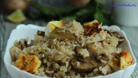 Panner Mushroom rice2