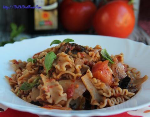 Pasta - tomato mushroom2