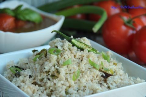 Spring onion rice3