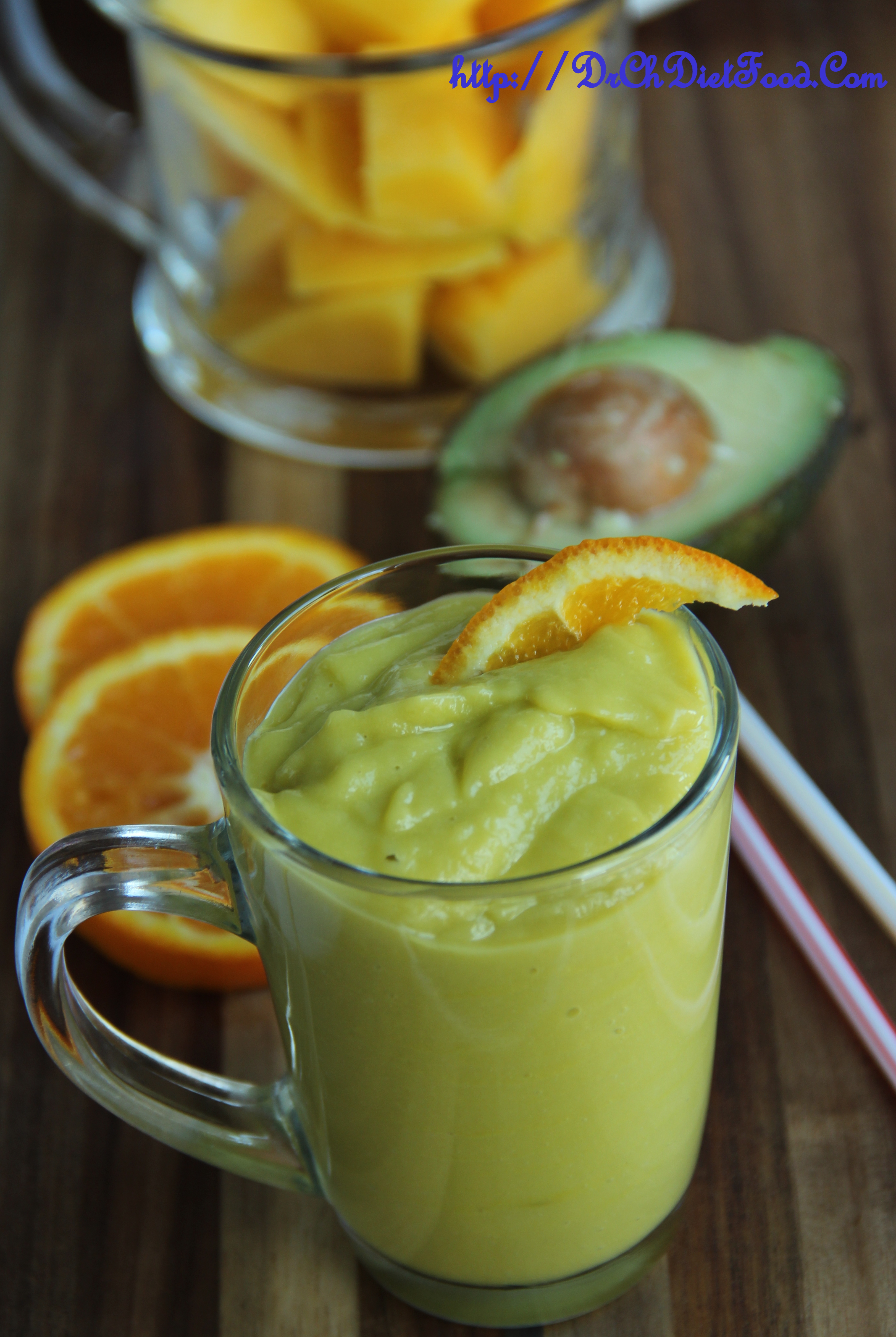 Mango Orange And Avocado Smoothie Chitra S Healthy Kitchen