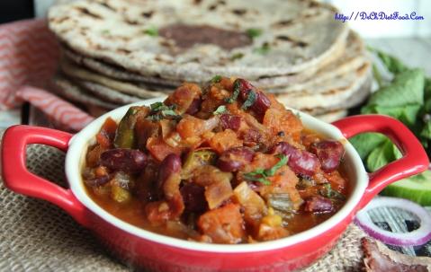 Kidney beans tomato gravy3