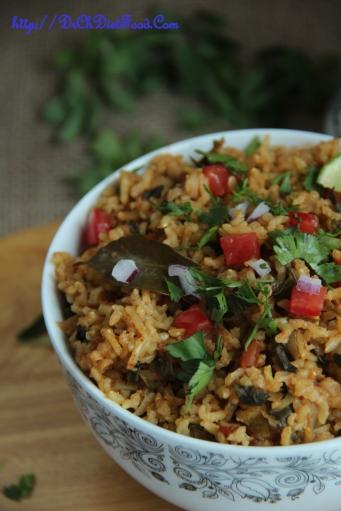 Tomato Methi rice1