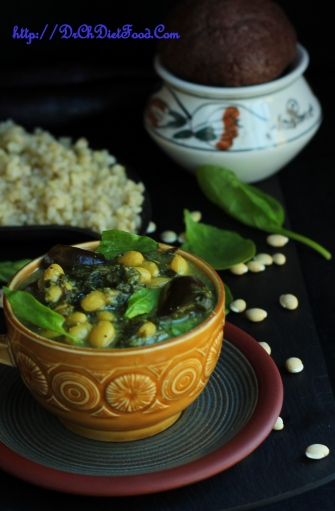 Aubergine limabean Curry2
