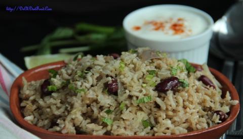 Kidney beans rice2