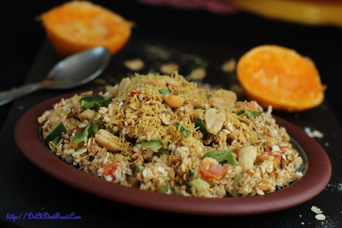 Orange Oats Bhel1