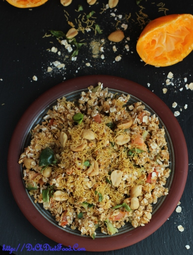 Orange Oats Bhel2