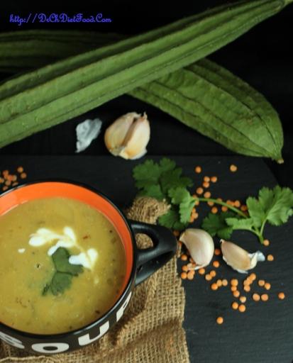Ridge gourd Soup1