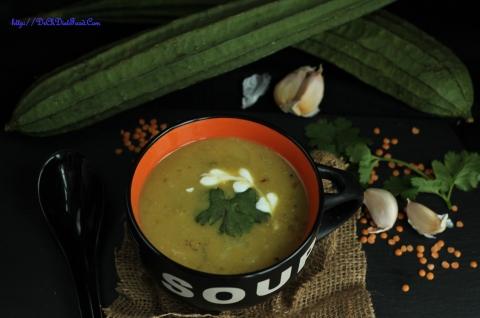 Ridge gourd Soup3