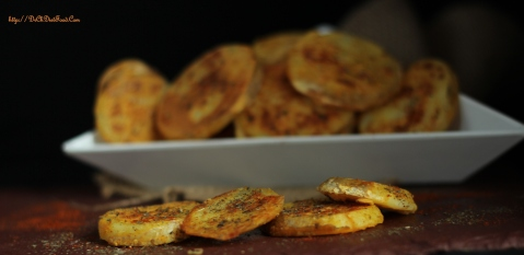 Potato slices on Tawa5